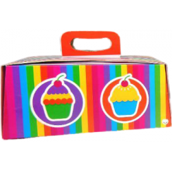 CAJA P/TORTA CAKEBOX RAINBOW N 27 (27X27X15)