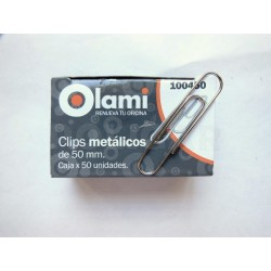 CLIP METAL 50 MM X 50 UNIDADES