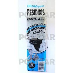 RESIDUOS REFORZADOS 45 X 60 X 30 A.D NEGRO X 50 PA