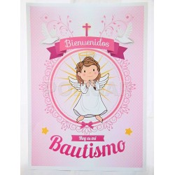 AFICHE BAUTISMO ANGEL NENA X 1*